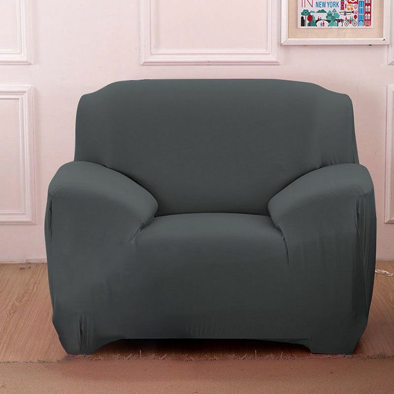 Slipcover 1 2 3 4 Seat Spandex Stretch Chair Sofa Cover Couch Elastic Protector
