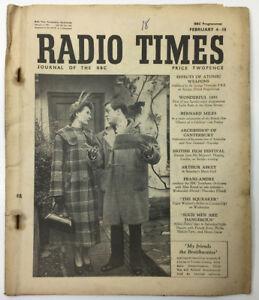 RADIO-TIMES-MAGAZINE-2nd-FEBRUARY-1951-VOL-110-NO-1421-FRIENDS-THE-BRAITHWAITES