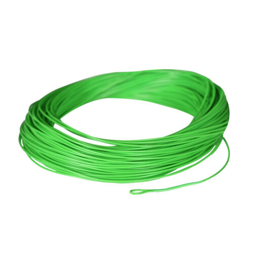 SF Green Fly Fishing Line Floating WF 2 3 4 5 6 7 8 9 F wt  Loops 100 FT