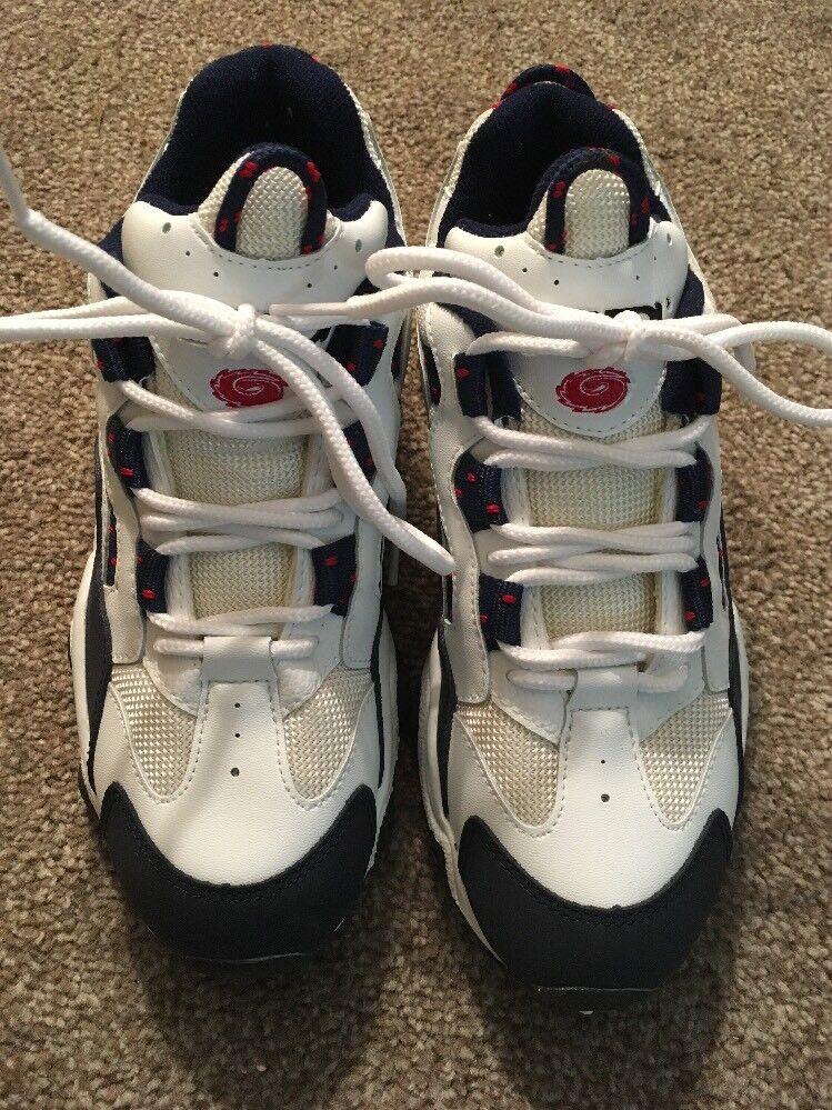 NWOT kvinnor SIDI vit vit vit röd blå Ateltic skor, Storlek 9.5 (Euro 40)  kampanjer