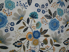 Harlequin Curtain Fabric  'Caspia' 6.25 METRES Amber/Indigo ~ Jardin Boheme Coll