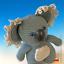 für große Amigurumis schwarze riesige Sicherheitsnase Koala 48mm