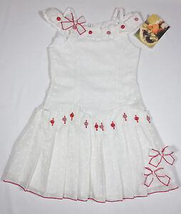 New Biscotti Minky Dot Dress White Boutique Size 5 6 Nwt Ebay