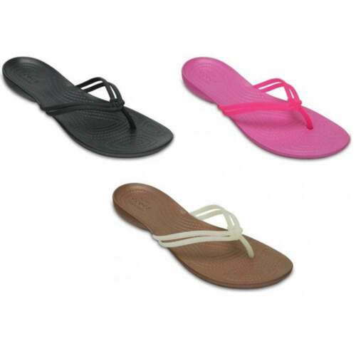 Crocs Isabella Standard Fit Womens Flips All Sizes In Various Colours