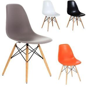 stuhl dekodesign wohnzimmerstuhl eiffel esszimmerstuhl kunststoff holz salsa ebay. Black Bedroom Furniture Sets. Home Design Ideas