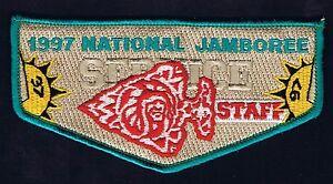 OA Flap Jamboree National 1997 Service Staff TRQ Brd TAN Bkg 401106