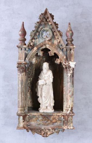 Autel Sainte personnage Sakral autel antique wandaltar Gothique Autel Saint