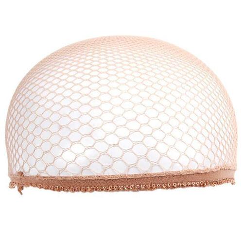 Women Men Soft Cloth Hair Net Crochet Hairnet Knit Hat Cap Hairband Fashion