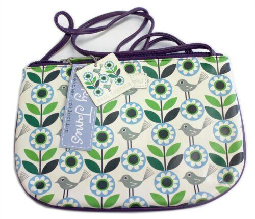 Nicky James Leather Designer Bag Flower City purse Cross body Handbag Shoulder
