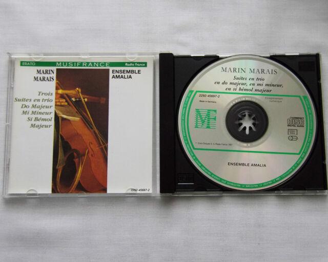 Marin MARAIS/ENSEMBLE AMALIA Pieces en trio GERMANY CD ERATO (1991) MINT