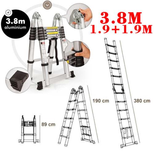 2.6m-5m Multi-Purpose Aluminium Telescopic Ladder Extension Extendable Builders