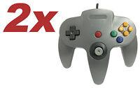 2 X Nintendo 64 Controller Grey N64 Old Skool