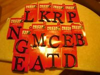 3 In 1 Magnetic Monogram Letter A B C D E F H I J K L M N O P Q R S T U V W X