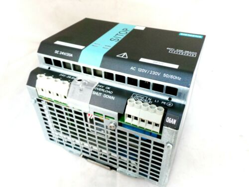 SIEMENS 6EP1336-3BA00 SITOP MODULAR DIN RAIL PANEL MOUNT POWER SUPPLY 24VDC 20A