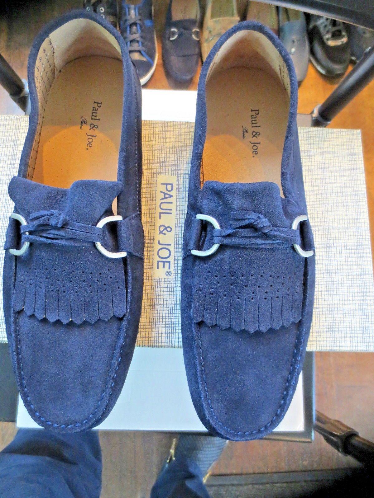 Paul Velours & Joe Carlton Ziege Velours Paul Marine neu Wert 159E Schuhgrößen 41,44 3c6f61