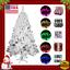 White-Christmas-Tree-6-7-8-Feet-Ft-LED-Lights-Ornaments-Set-Xmas-Decorations-Kit thumbnail 1