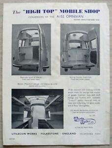 AUSTIN A152 OMNIVAN MOBILE SHOP Sales Specification Leaflet 1958 #A203/6.58