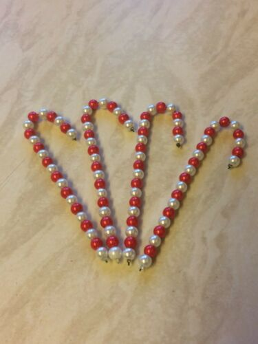 Choose from the tab Various colours 4 x Handmade christmas candy canes