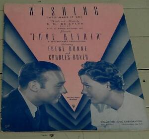 Initiative Wishing (will Make It So), B. G. De Sylva, 1939 Old Sheet Music