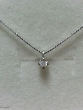 collana girocollo punto luce oro bianco 9 kt diamante naturale  0,03 ct