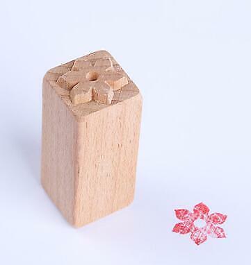 Hand Geschnitzt Leaf Blum Pattern Hölzern Briefmarken For DIY Clay Pottery Tools