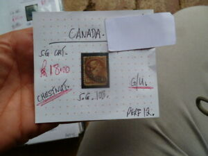 CANADA-QUEEN-VIC-CHESTNUT-STAMPS-G-U-S-G-108