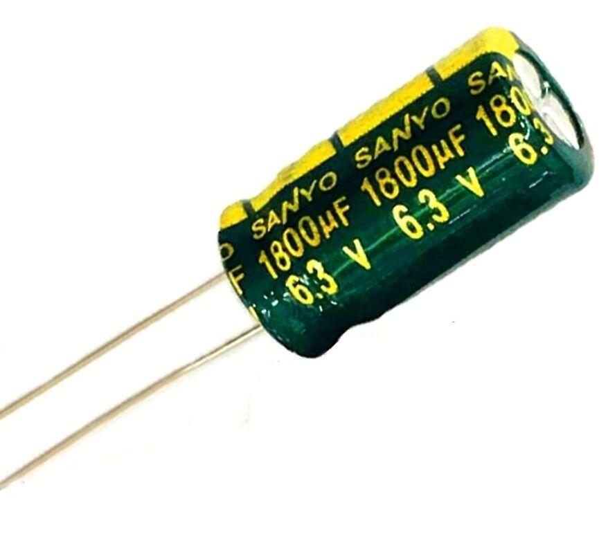 1800 uF 6.3 V condensateur  X 10 capacitor  105°C