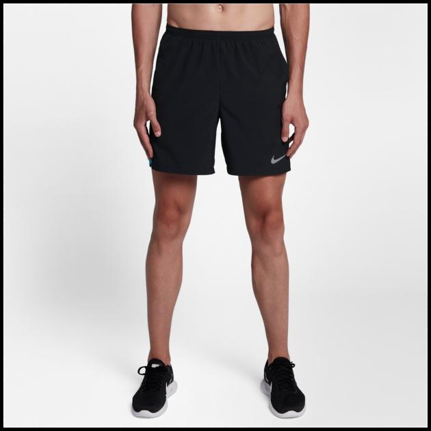 "Nike CHALLENGER MEN/'S 5"" RUNNING SHORTS Waistband,BLACK- Size S XL Or 2XL M L"