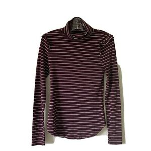 Medium-NWOT-THREE-DOTS-Womans-Striped-Turtleneck-Top