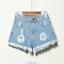 UK-Vintage-Ripped-Womens-High-Waist-Stonewash-Denim-Shorts-Jeans-Hot-Pants-6-22 thumbnail 12