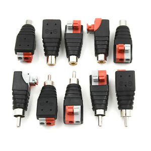5Pcs-speaker-wire-a-v-cable-to-audio-male-rca-connector-adapter-jack-press-pl-dH