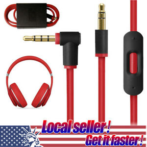 3-5mm-Replacement-Audio-Cable-L-Cord-For-Beats-By-Dr-Dre-Headphones-Aux-With-Mic