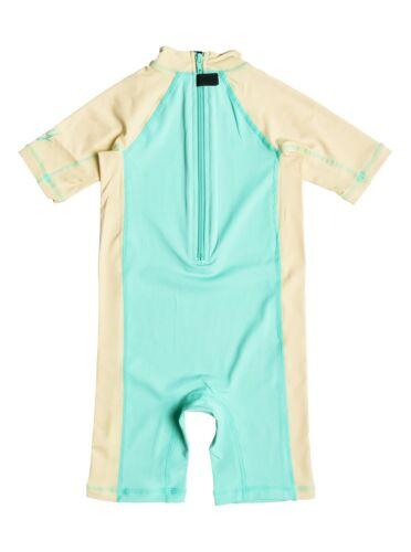 Roxy Girl/'s 3//3T So Sandy Yellow Seafoam 1 Pc Springsuit Rash Guard Swimsuit UV