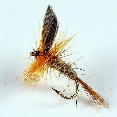Gold Ribbed Hares Ear Dry Fly Trout fly Fishing flies by Dragonflies