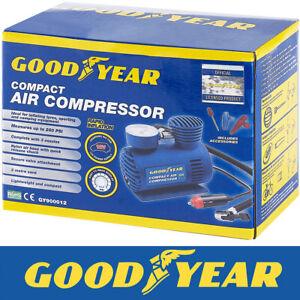 Goodyear-Car-Tyre-Air-Compressor-Pump-Bike-Cycle-Compact-3m-Cord-12V-Inflator