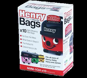 HENRY-HOOVER-HVR200-HVR200A-HEPA-FLO-VACUUM-BAGS-X10-NVM-1CH-NVM1C-NVM1CH-604015