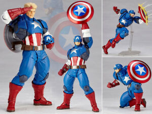 Amazing-Yamaguchi-Revoltech-Captain-America-No-007-Action-Figurine-Statue-No-Box