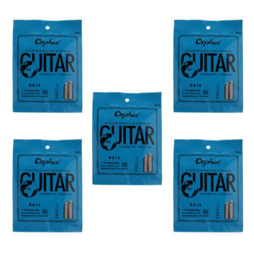 5 Packs E-Gitarrensaiten-Set Ersatz-Zubehör für Gitarre RX15