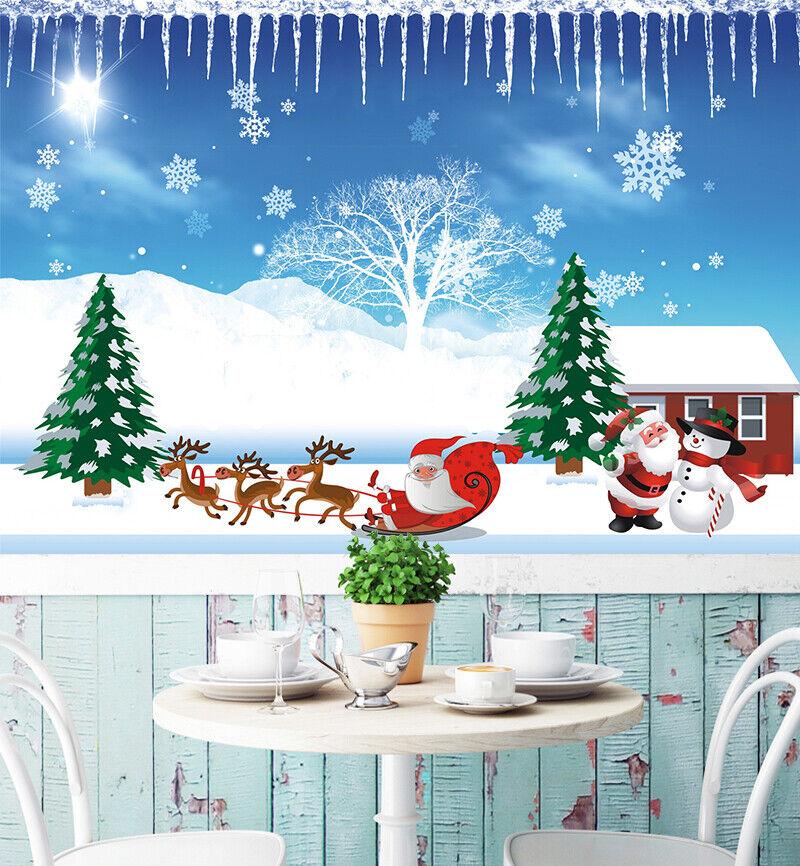 3D Santa Claus N051 Christmas Wallpaper Wall Mural Removable Self-adhesive Amy