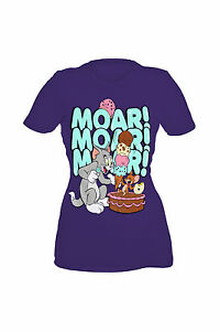 5bbdd5dd Image is loading Tom-And-Jerry-Moar-Girls-T-Shirt
