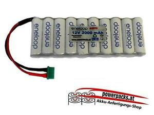 Empfänger-Antriebsakku Eneloop 4.8V2000 mAh flachform Stecker frei wählbar...