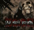 ALL SHALL PERISH - HATE, MALICE, REVENGE CD NEU