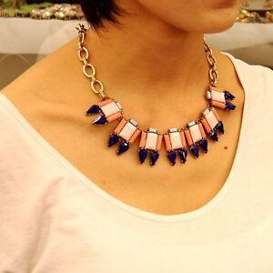 Collar-Geometrico-Cuadrado-Gota-Rosa-Azul-Moderno-Original-Noche-QT-8