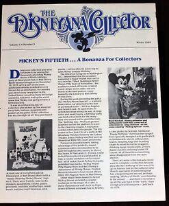 Disneyland Disneyana Collector Newsletter 1983 Walt Disney Mickey Mouse 50th BD