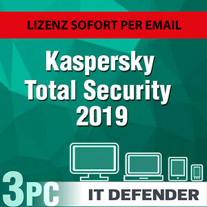 Kaspersky Total Security 2019 3 PC / Geräte 1Jahr /  Download / auch f. 2018