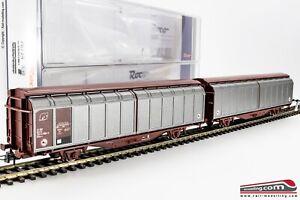 ROCO-76734-H0-1-87-Carro-merci-doppio-FS-a-pareti-scorrevoli-modello-Hillmrr