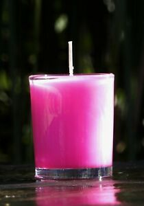 40hr COCONUT /& GARDENIA Triple Scented Organic SOY Jar Candle UPLIFTING AROMA