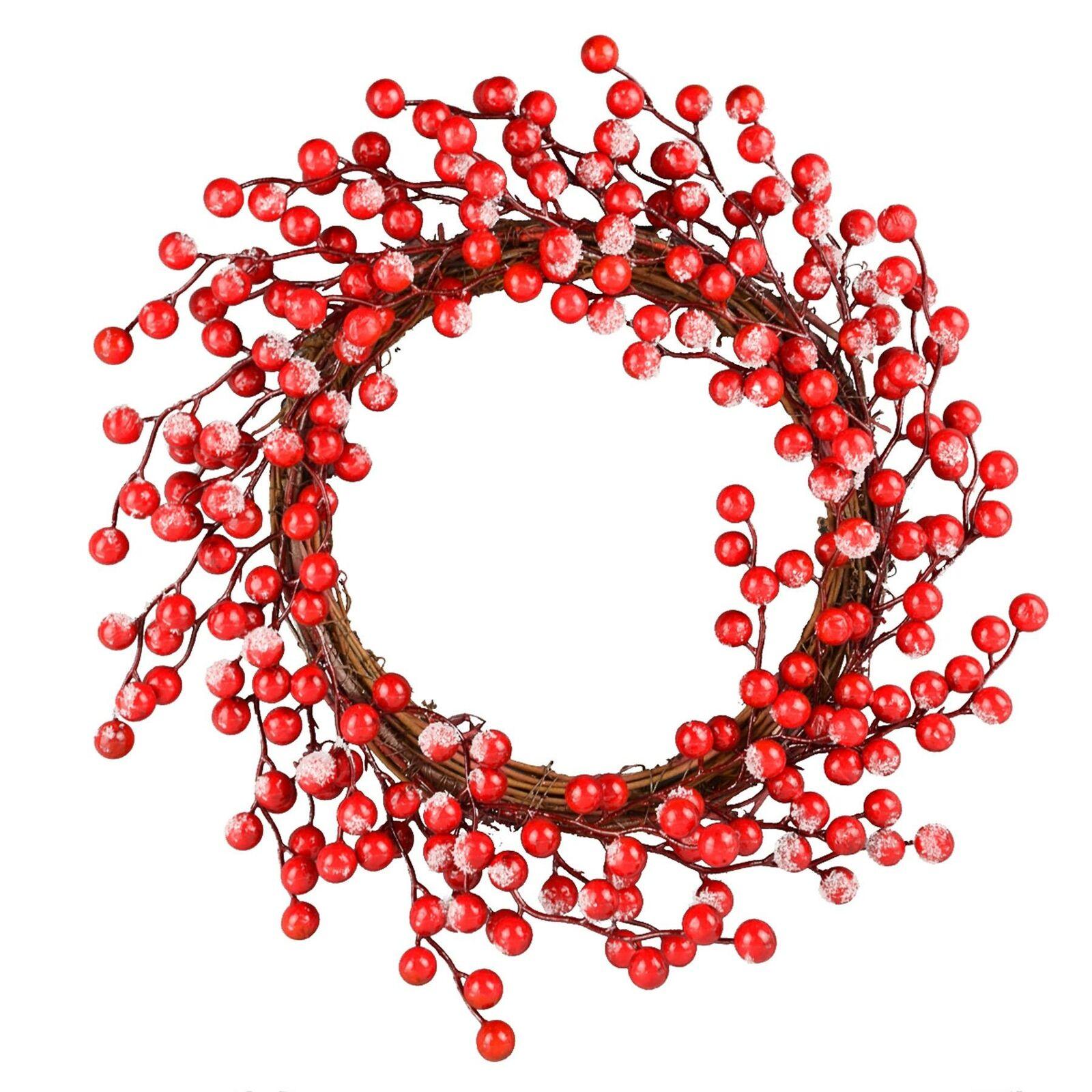 Esmerilado Guirnalda Bayas - 45cm - Navidad Puerta Decoración