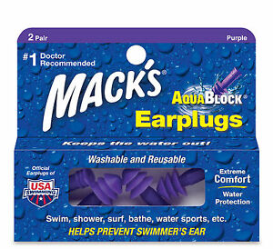 Macks-Earplugs-Aqua-Block-Swimming-Shower-Ear-Plugs-2-pairs-Flanged-Silicone