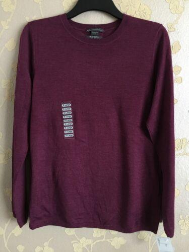 Exchange donna Merino lavorato xl maglia a Armani Maglione Formato lana Bnwot XTxw0qF